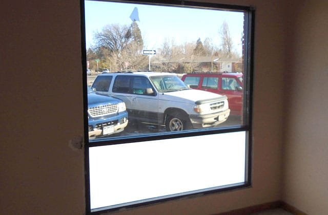 Commercial Window Tinting - Frosted Glass Film - After