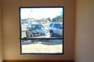 Commercial Window Tinting - Frosted Glass Film - Before