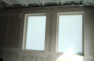 Garage Interior Frosted Glass Film Denver - After
