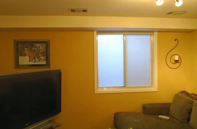 Window Well Frosted Glass Film After