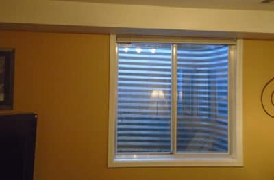 Window Well Frosted Glass Film Denver - Before