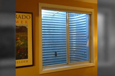 Window Well Frosted Glass Film Before